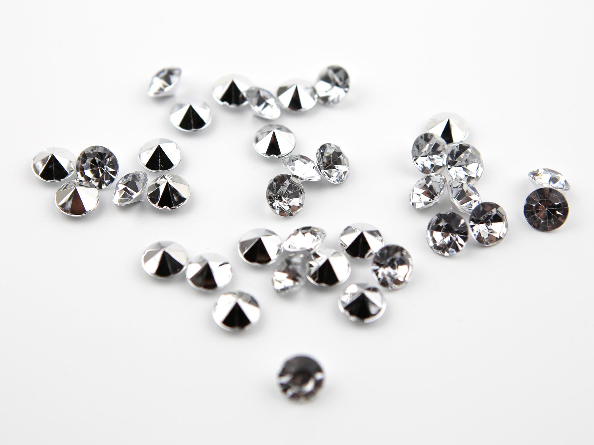 Paquet de 2000 diamants argenté décoration table de mariage MDT8