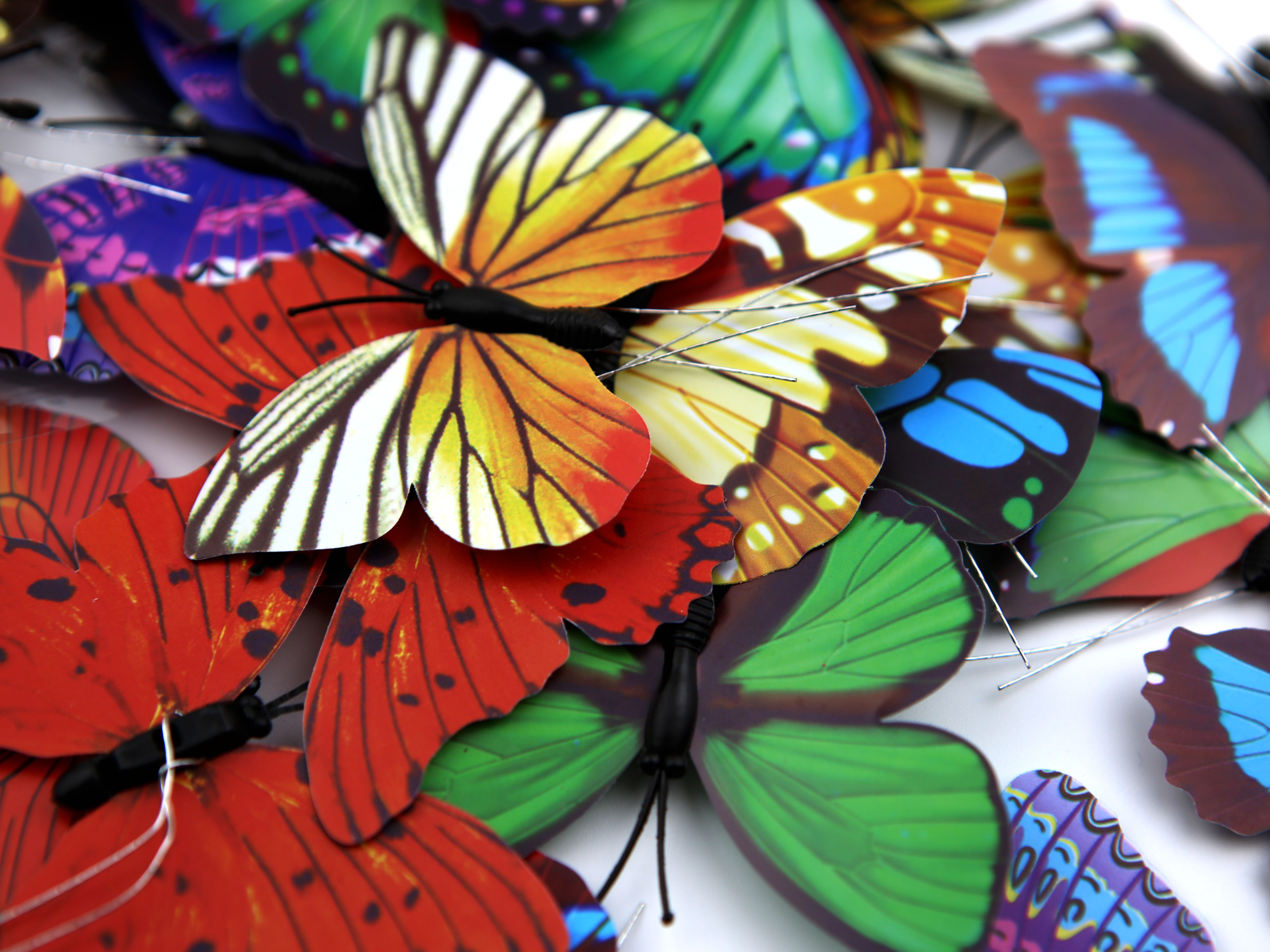 Papillons en 3D décoration pour pot de muguet DMG5