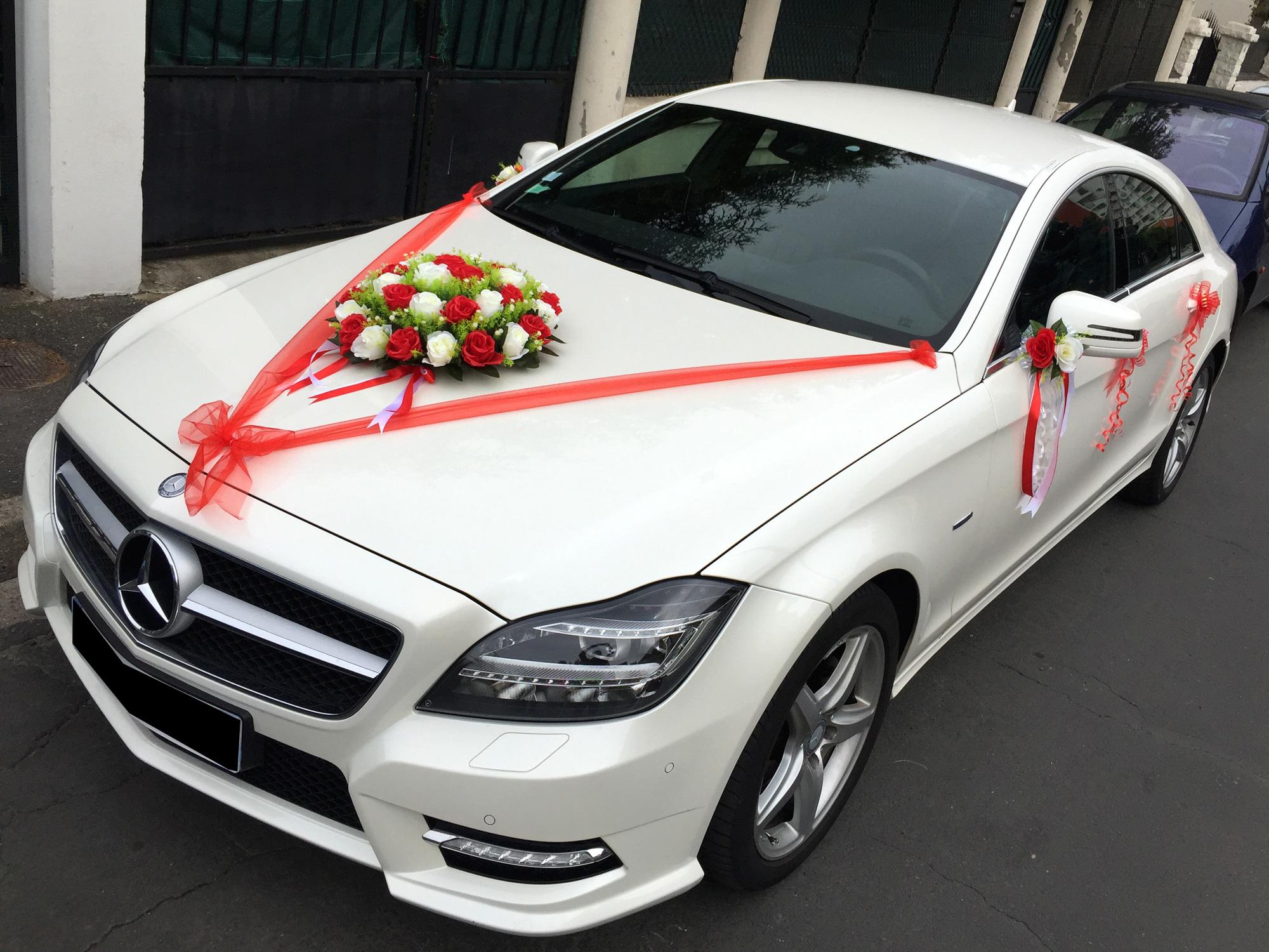 Kit décoration mariage pour voiture complet tout en un MKT1. CADOSHOP.  IMG_9391. IMG_9382. IMG_3990