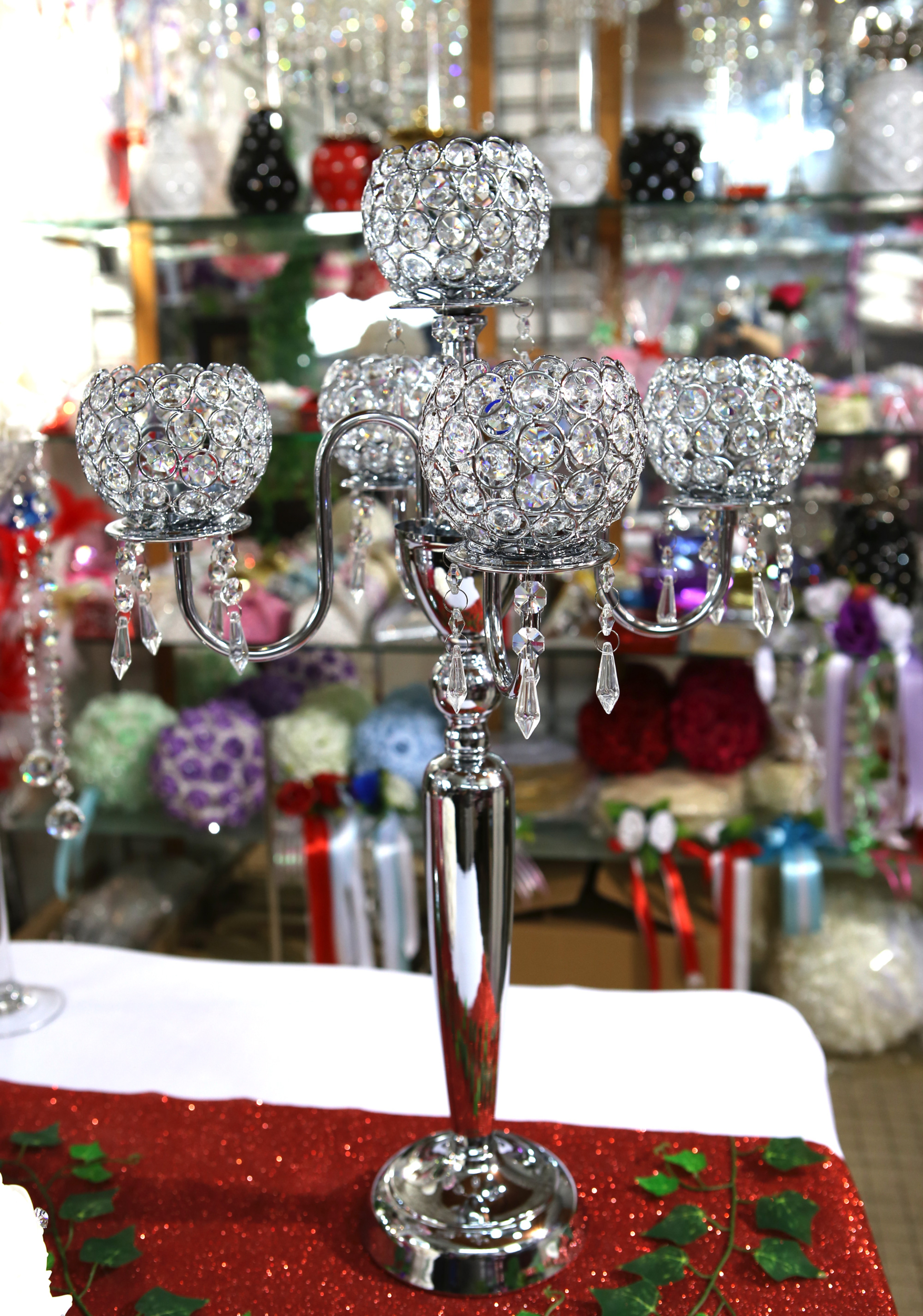 Bougeoirs chandeliers à 5 branches centre de table MCB2