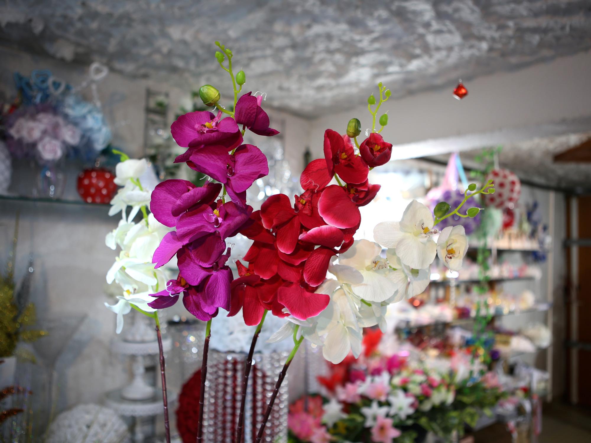 10 tiges orchidée phalaenopsis artificielle décoration mariage MTG1