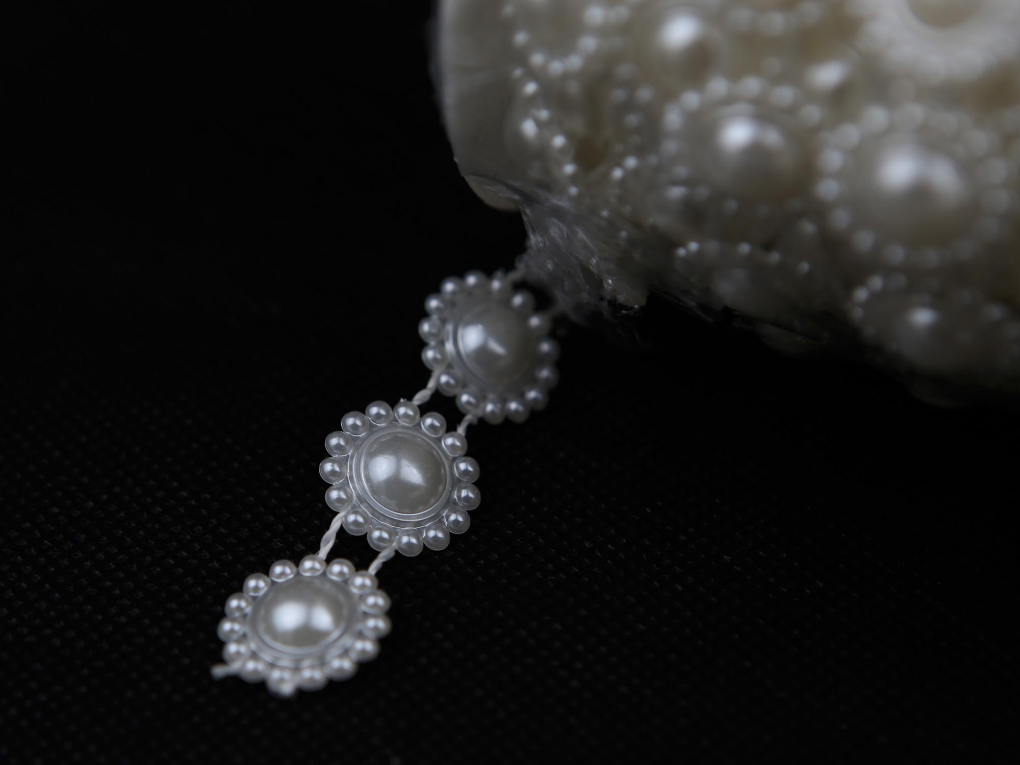 Rouleau guirlande de perles mariage MRP15