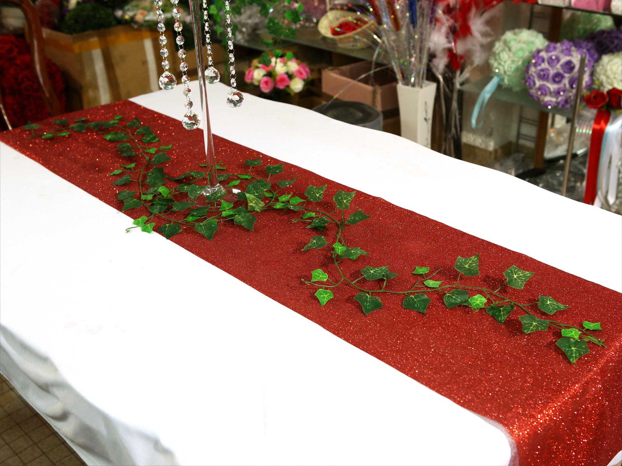 Lot de 10 guirlande de lierre vert chute artificielle mariage MRL23