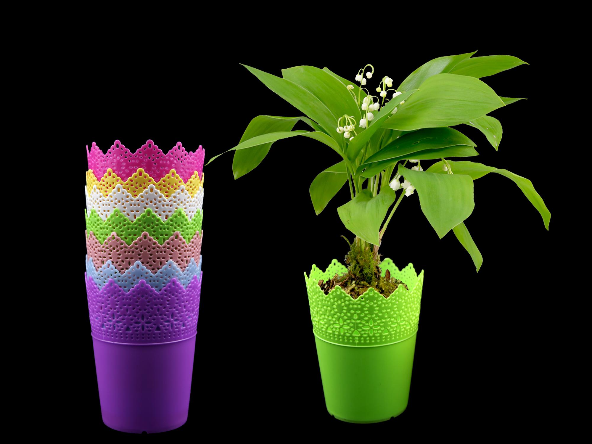 Lot de 50 pots à fleurs PVC pour brins de muguets DMP10