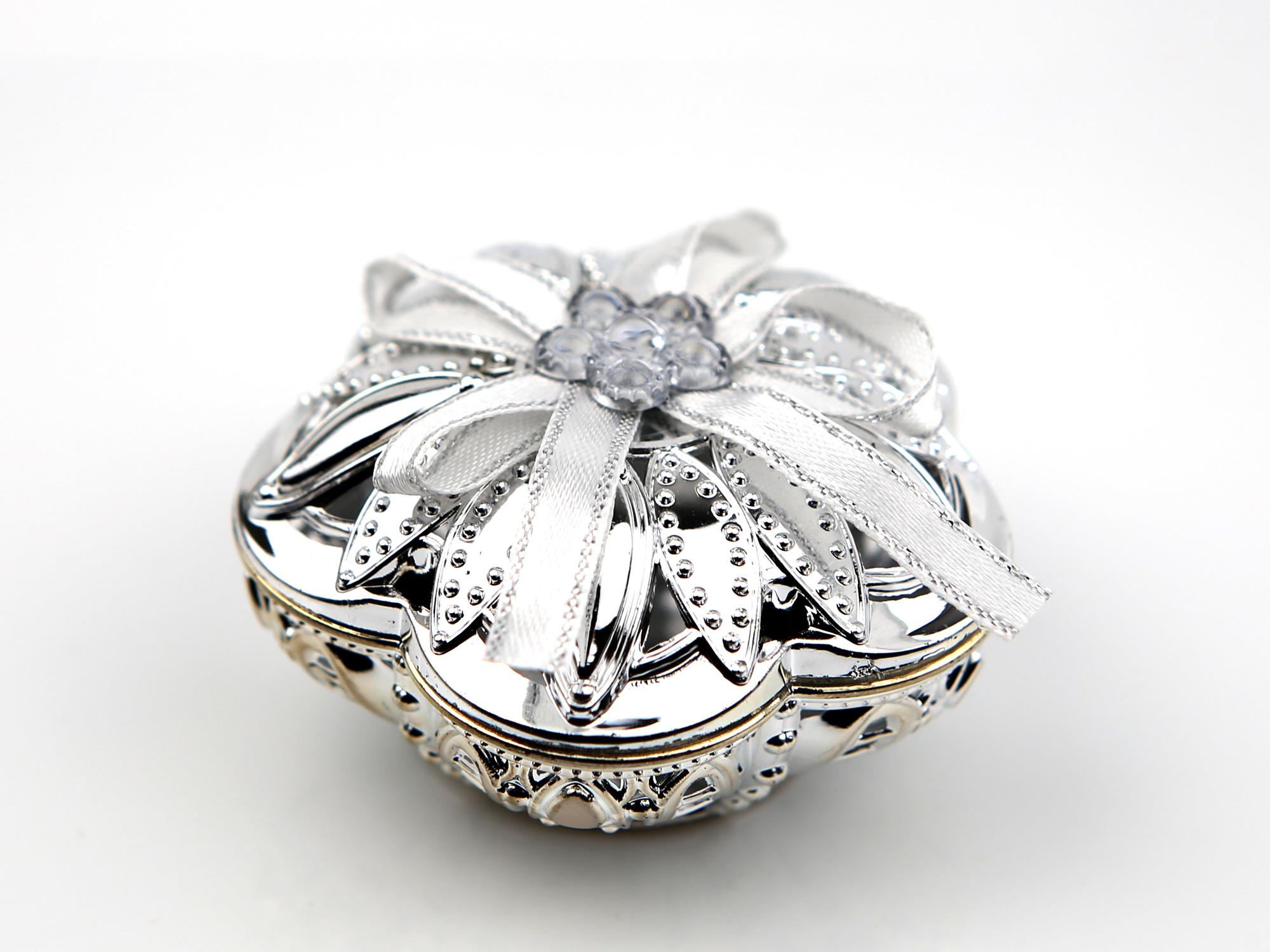50 Boîte à dragée fleur métallisé mariage cérémonie BTD39