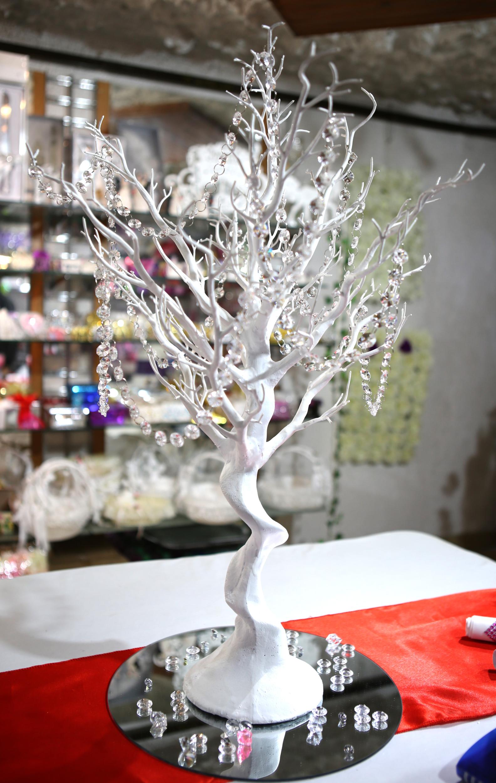 Centre de table arbre à vœux souhaits dragées mariage MCB4