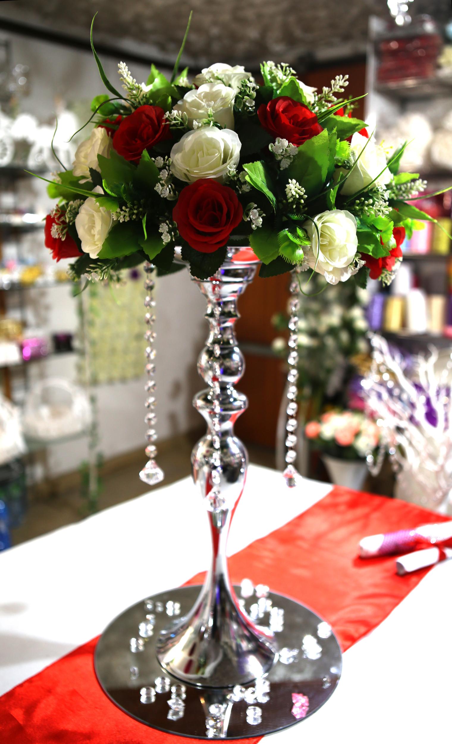 Centre de table support boule métal mariage MCB5