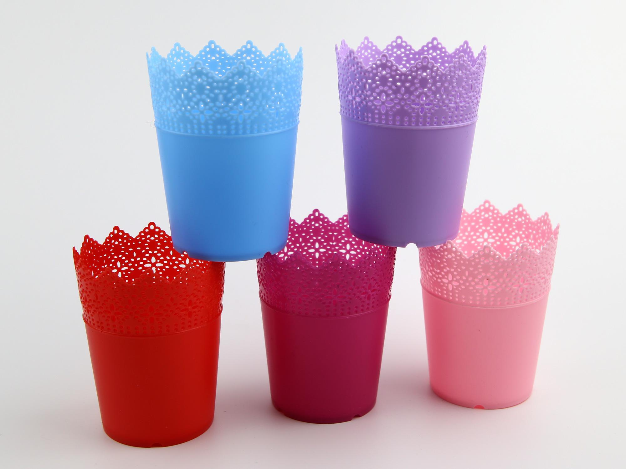 Lot de 50 pots à fleurs PVC pour brins de muguets DMP9