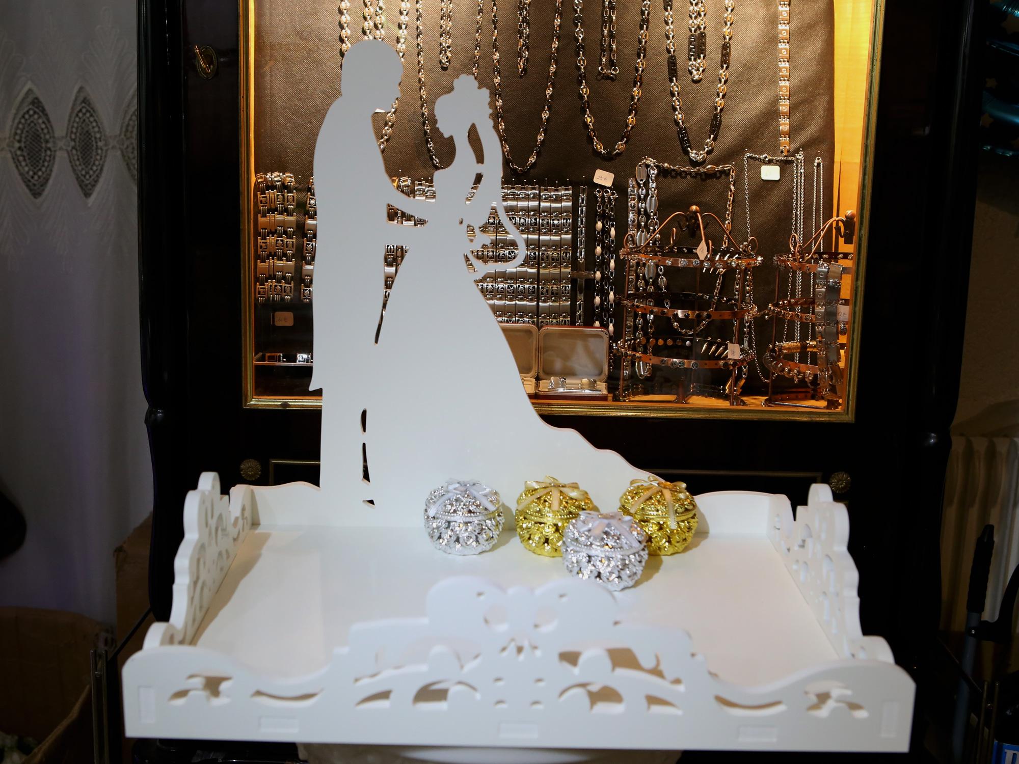 Support plateau contenants à dragées décoration mariage MPT2