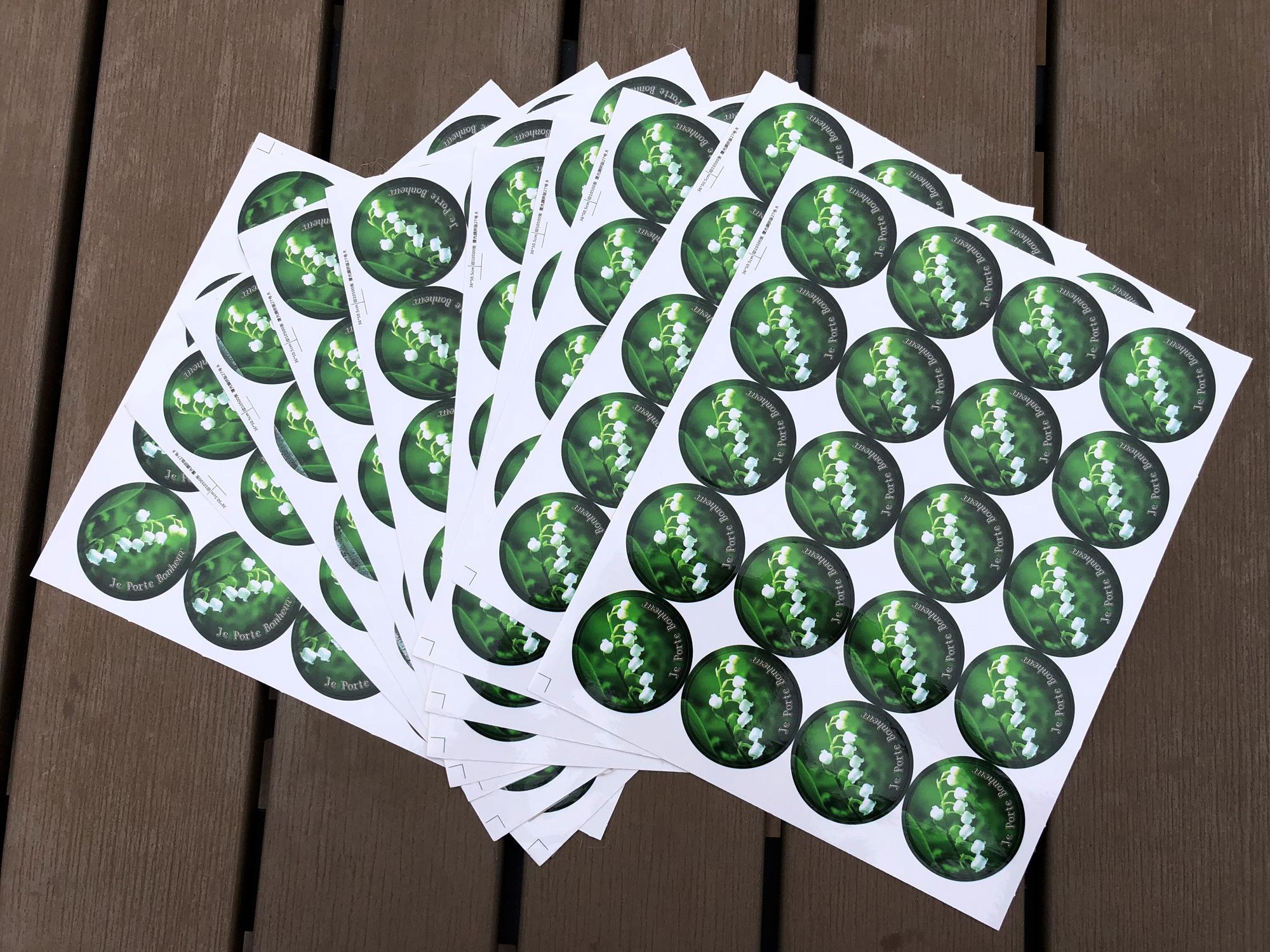 300 autocollants Stickers pour muguet 1er Mai DMA1