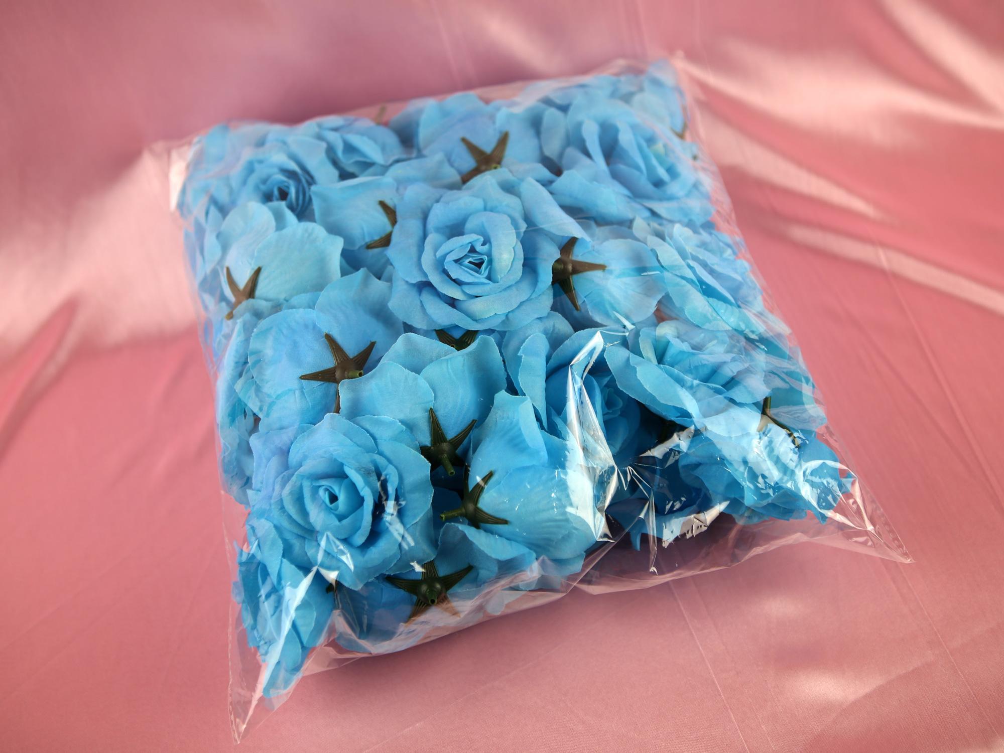 Paquet 50 tête de rose artificielles décoration mariage MDS1