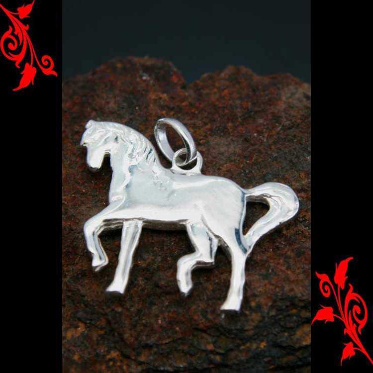 Pendentif cheval etalon equitation homme argent PA50