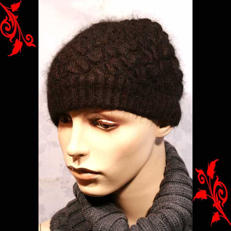 Bonnet femme doux fashion feminin mode neuf BNE1 MARRON