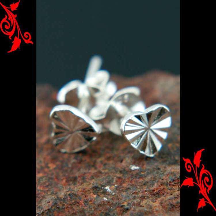 Boucles d\'oreilles bo coeur argent saint valentin BOA92