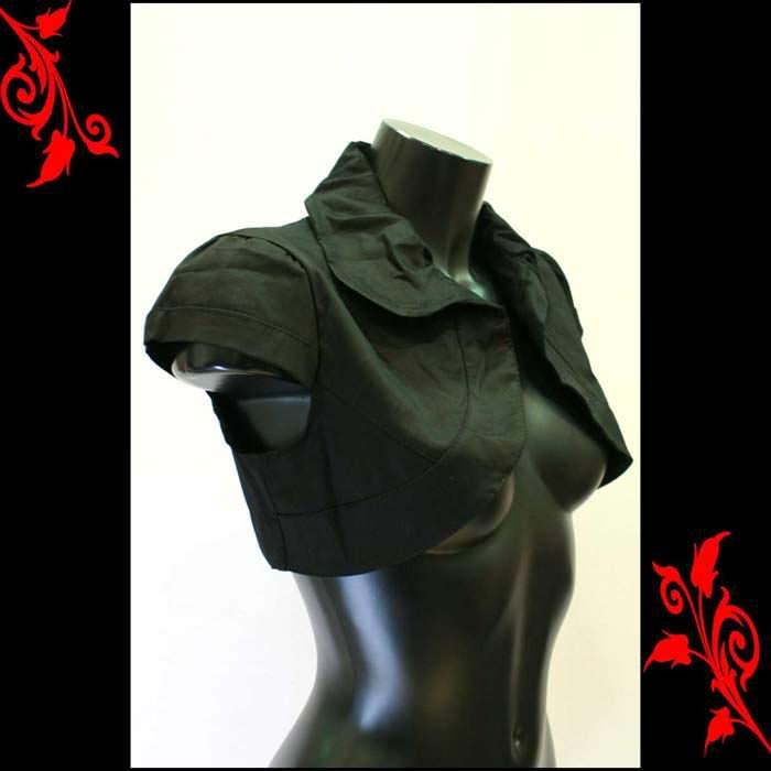 Bolero gilet pr robe bustier soiree T 36 38 40 42 neuf VBL1 noir