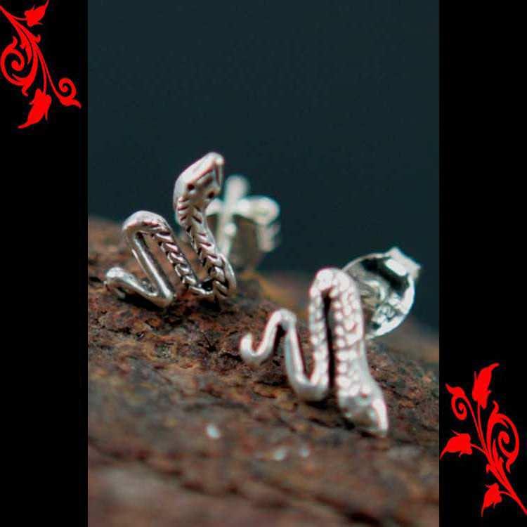 Boucles d\'oreilles bo serpent homme enfant argent BOA29
