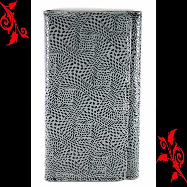 Compagnon porte carte chèquier simili cuir 352 gris