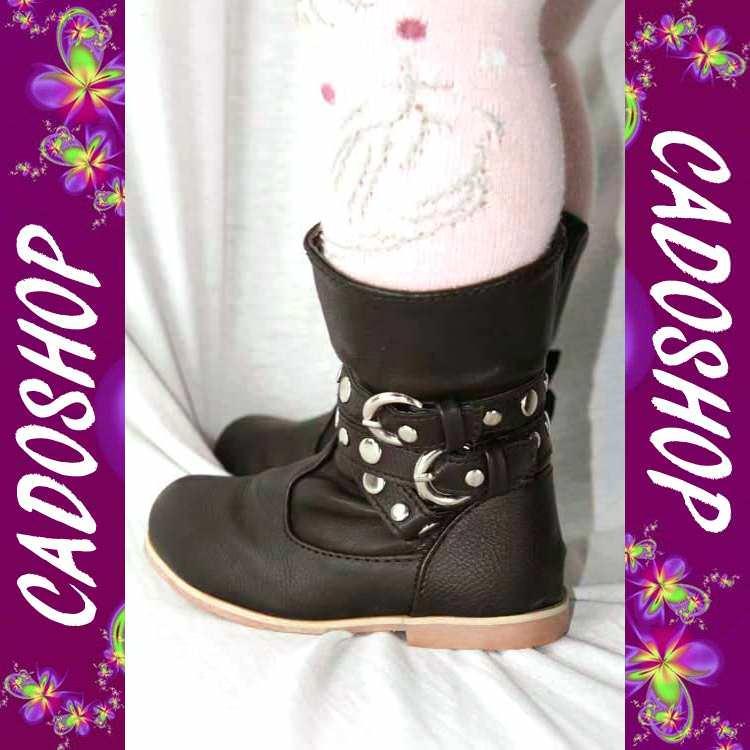 Chaussures bottes bebe fille enfant simili cuir T 19 20 21 22 23 24 B53007 MARRON