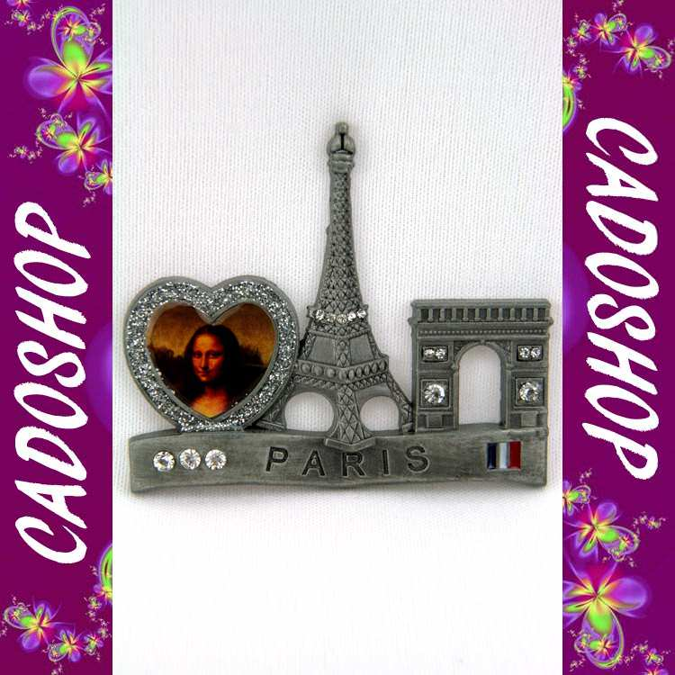 Magnet frigo collection cadeau souvenir de Paris Tour eiffel metal S20