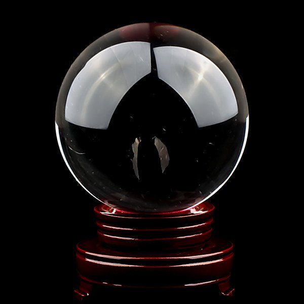 Boule de cristal voyance divination ésotérisme feng shui 19 cm DEB19