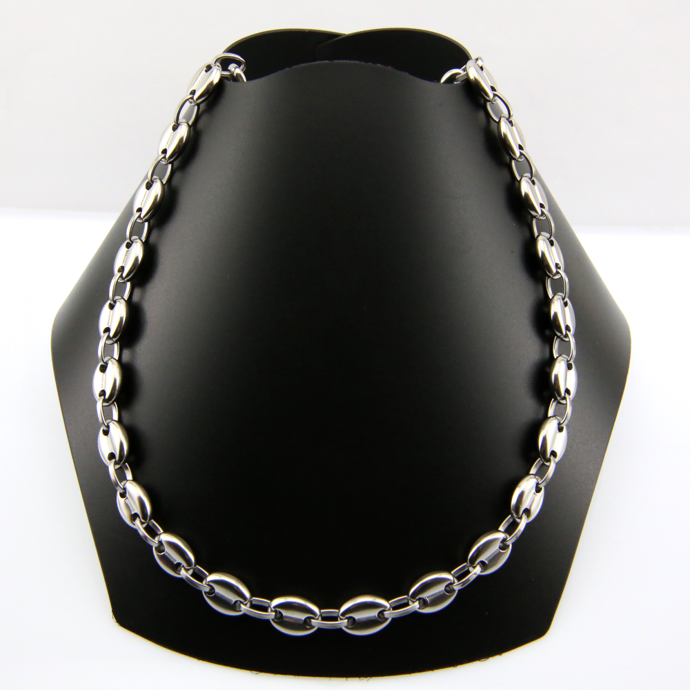 Collier Graine Cafe Argent Or