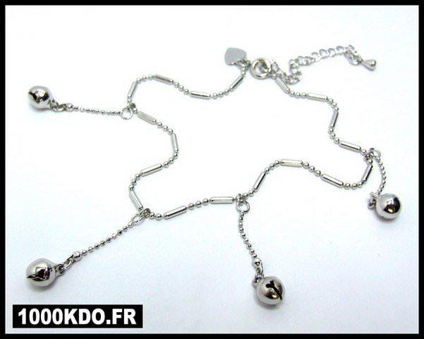 Chaîne De Cheville Breloque Clochettes Plaqué Neuf CHP3