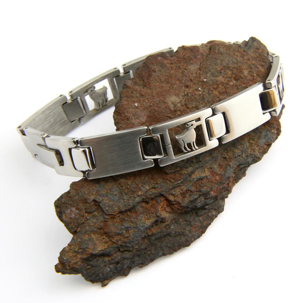 Bracelet acier homme signe du zodiaque Bélier BRSZ2 1