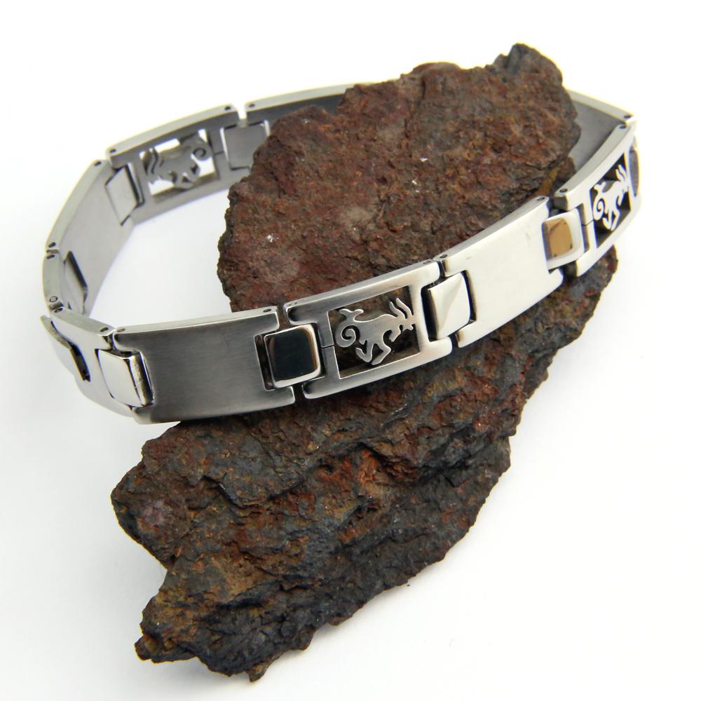 Bracelet acier homme signe du zodiaque Capricorne BRSZ2 10