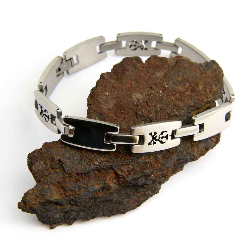 Bracelet acier homme motif tête de mort BRSX5