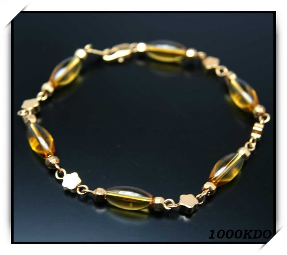 Bracelet gourmette femme cl plaqué or neuf BRP10