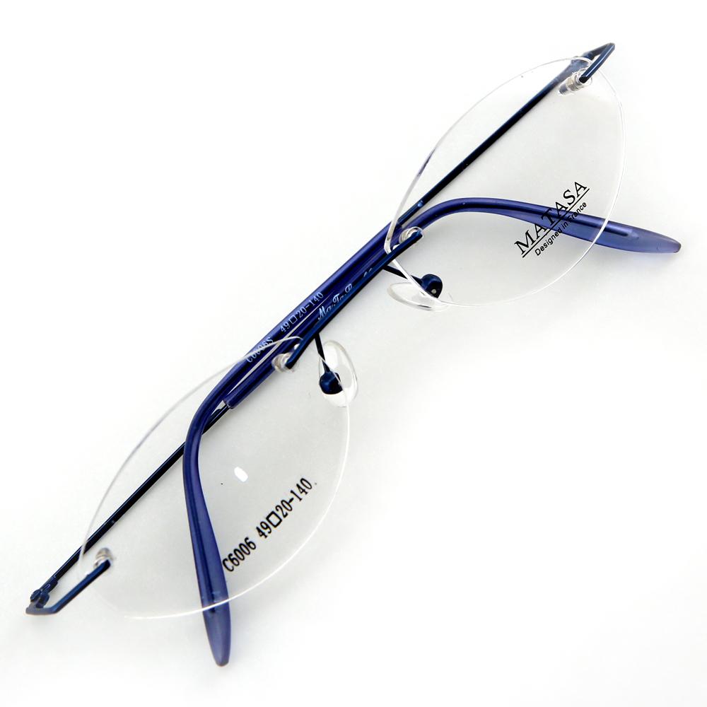Monture de lunettes de vue percée invisible LC6006 Bleu