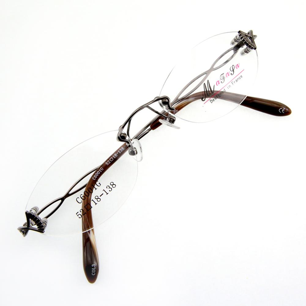 Monture de lunettes de vue percée invisible LC6001 Gris