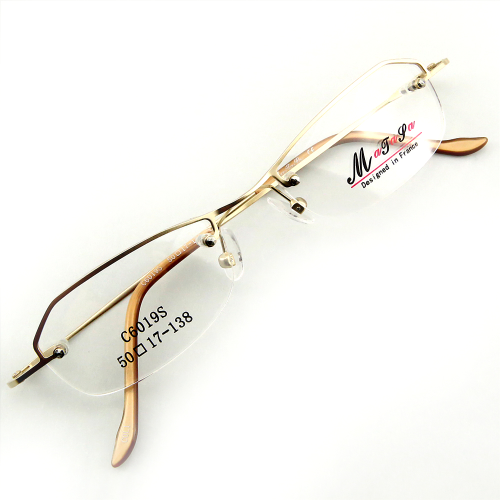Monture de lunettes de vue demi cerclée LC6019 Doré