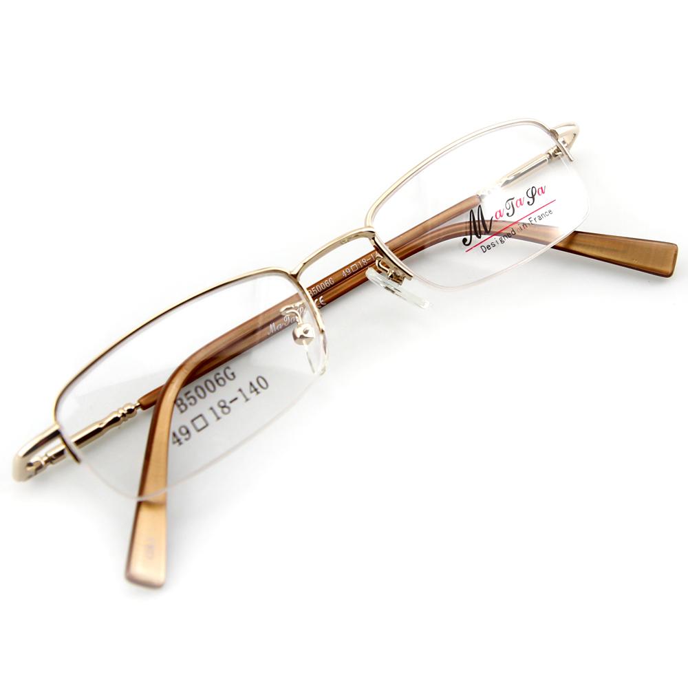 Monture de lunettes de vue flex demi cerclée LB5006 Doré