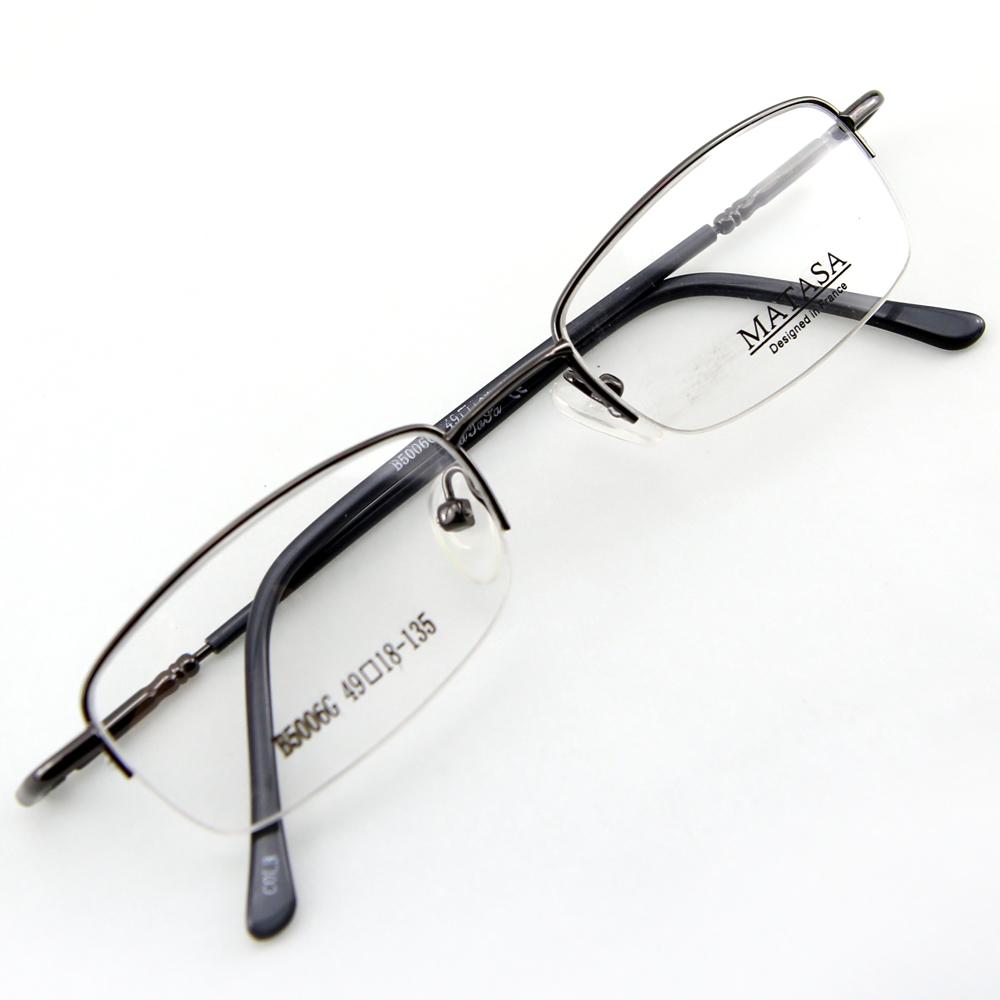 Monture de lunettes de vue flex demi cerclée LB5006 Gris foncé