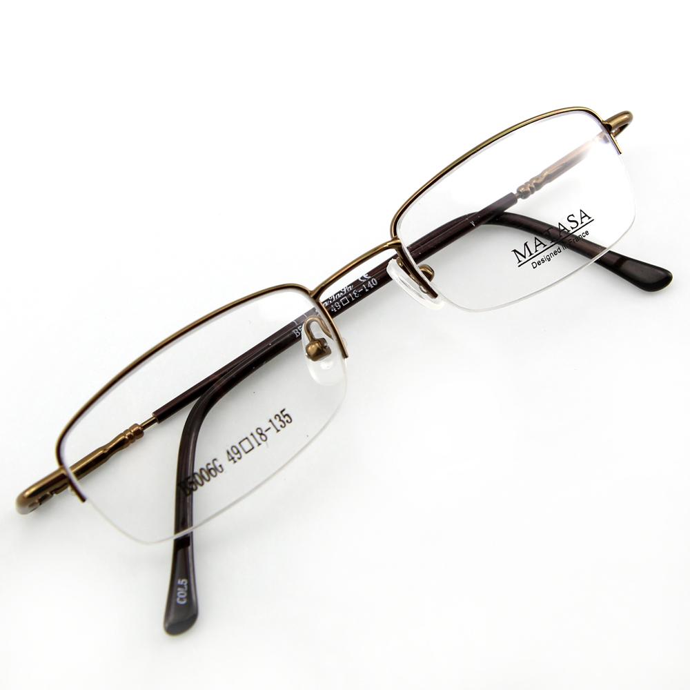 Monture de lunettes de vue flex demi cerclée LB5006 Marron