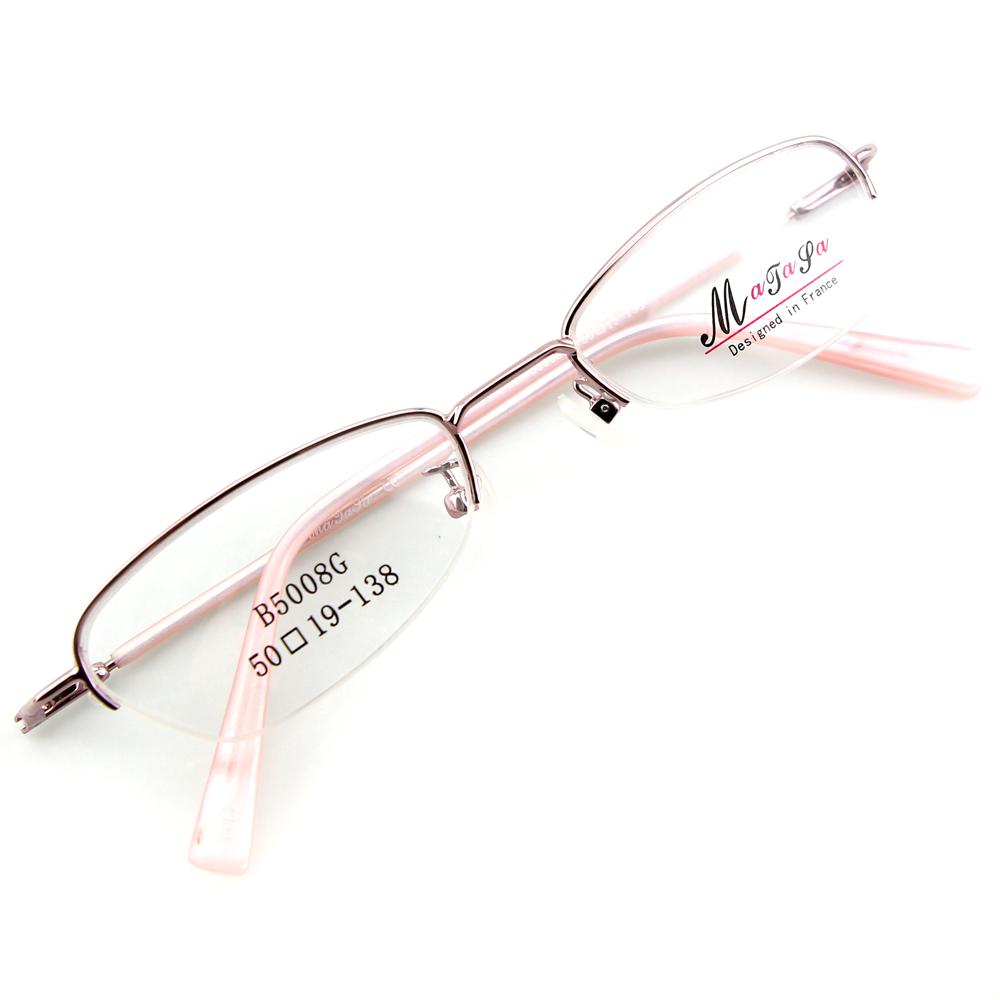 Monture de lunettes de vue flex demi cerclée LB5008 Rose