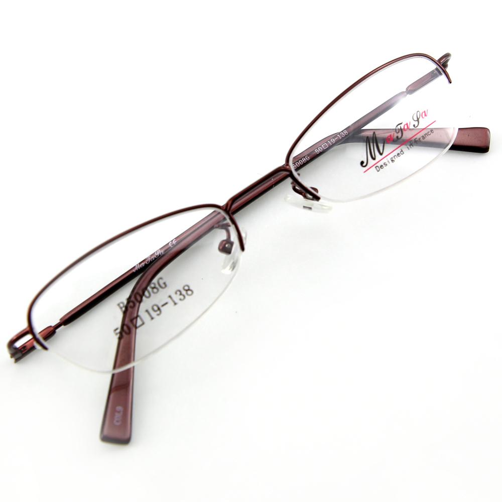 Monture de lunettes de vue flex demi cerclée LB5008 Bordeaux foncé