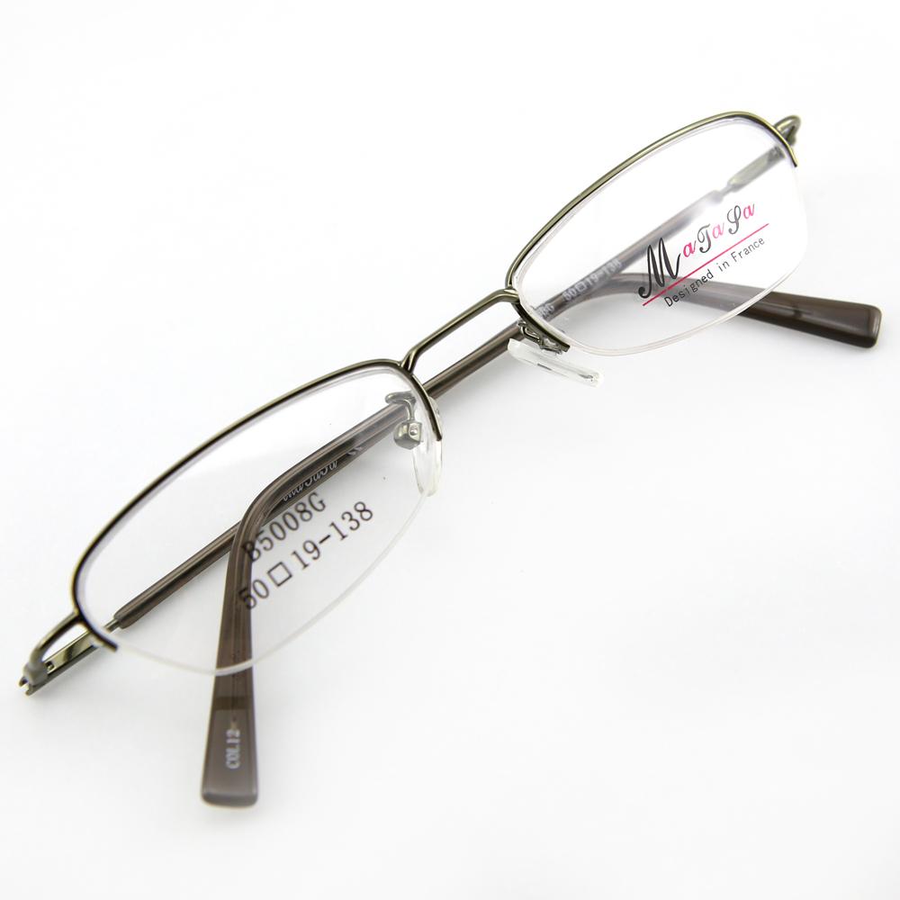 Monture de lunettes de vue flex demi cerclée LB5008 Vert kaki