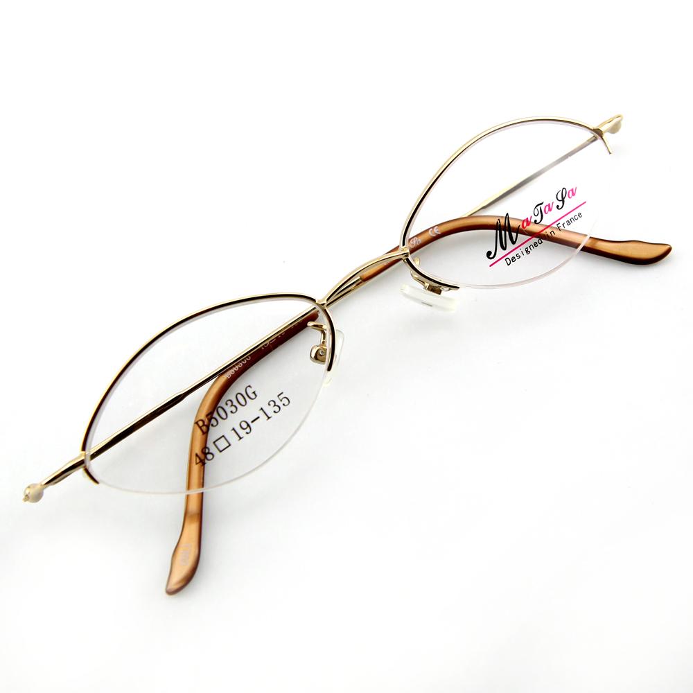 Monture de lunettes de vue demi cerclée LB5030 Doré