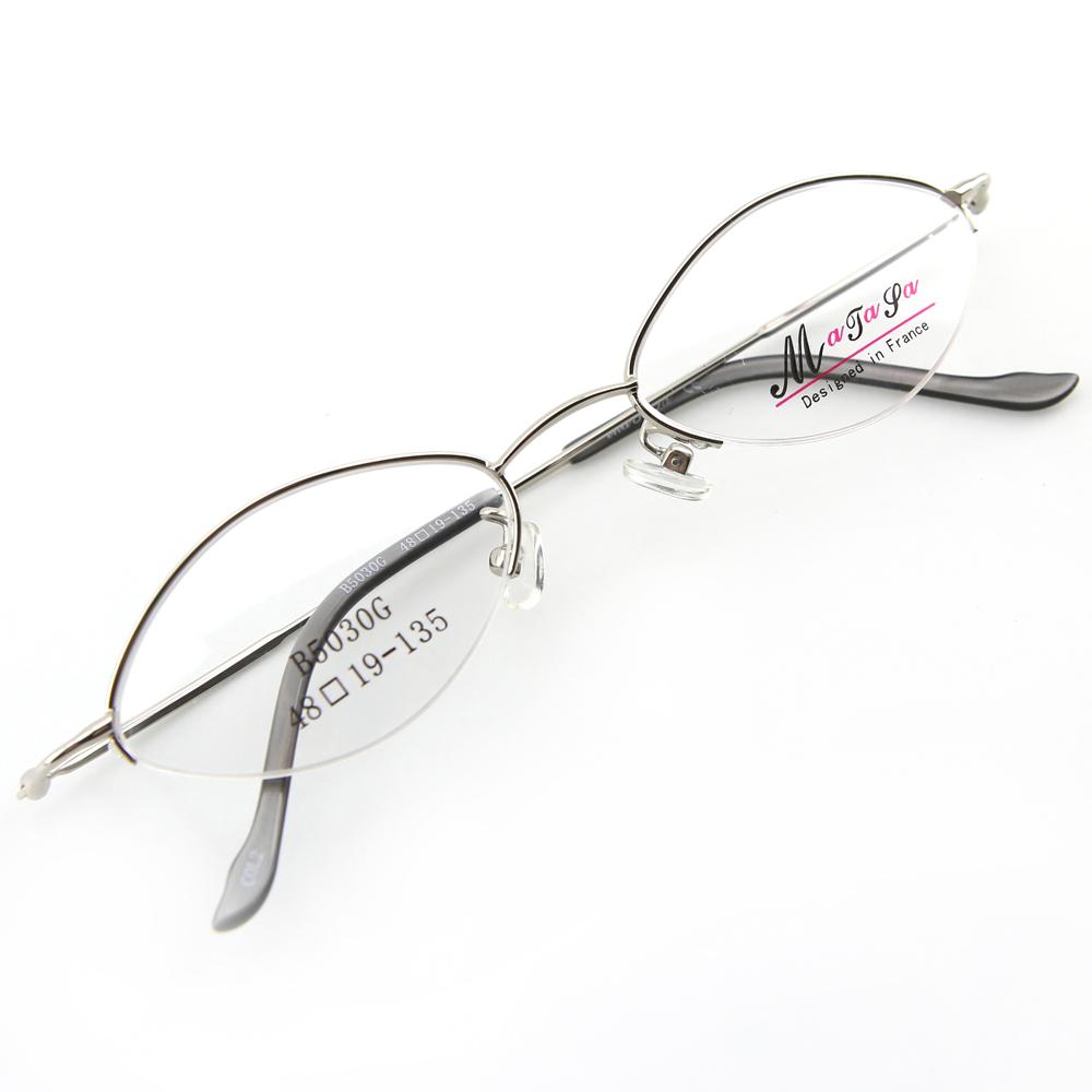 Monture de lunettes de vue demi cerclée LB5030 Argenté