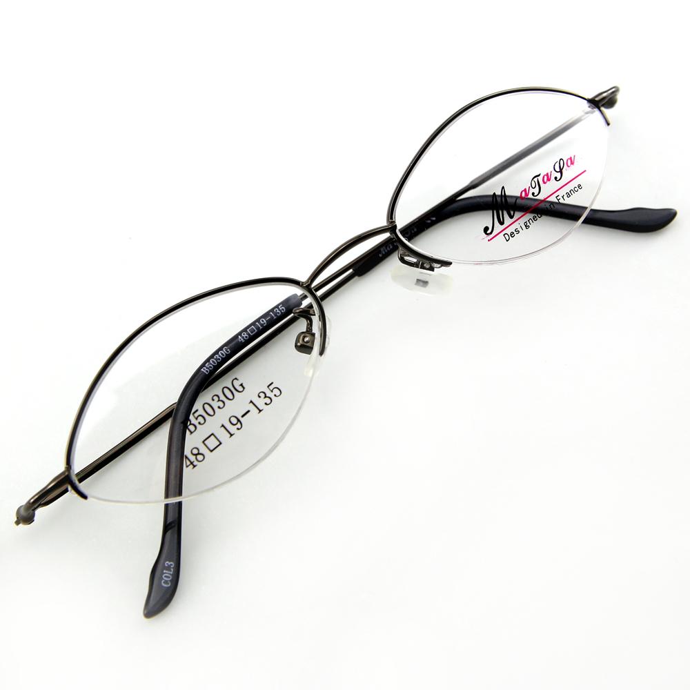 Monture de lunettes de vue demi cerclée LB5030 Gris foncé