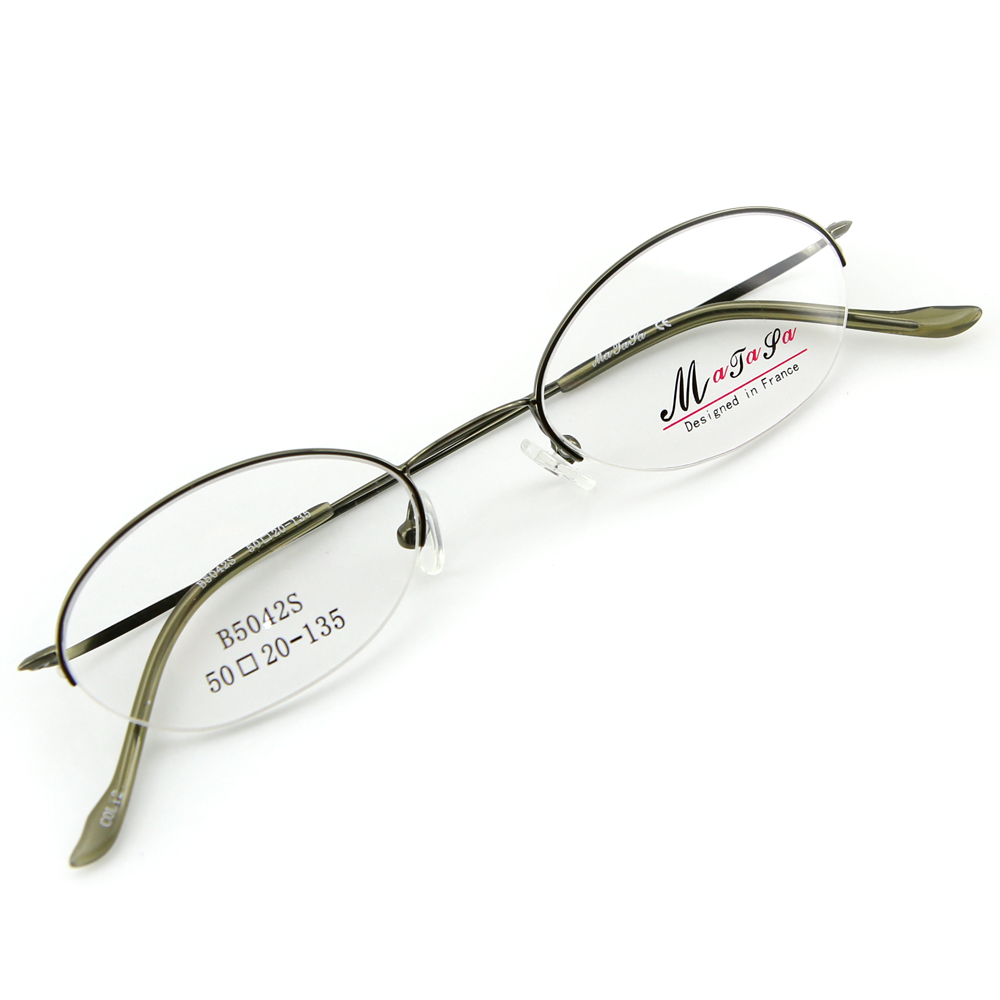 Monture de lunettes de vue demi cerclée LB5042 Vert kaki