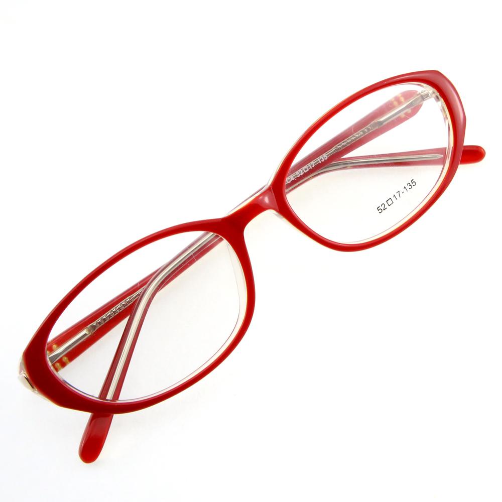 Monture de lunettes de vue cerclée LC4 Rouge et blanc