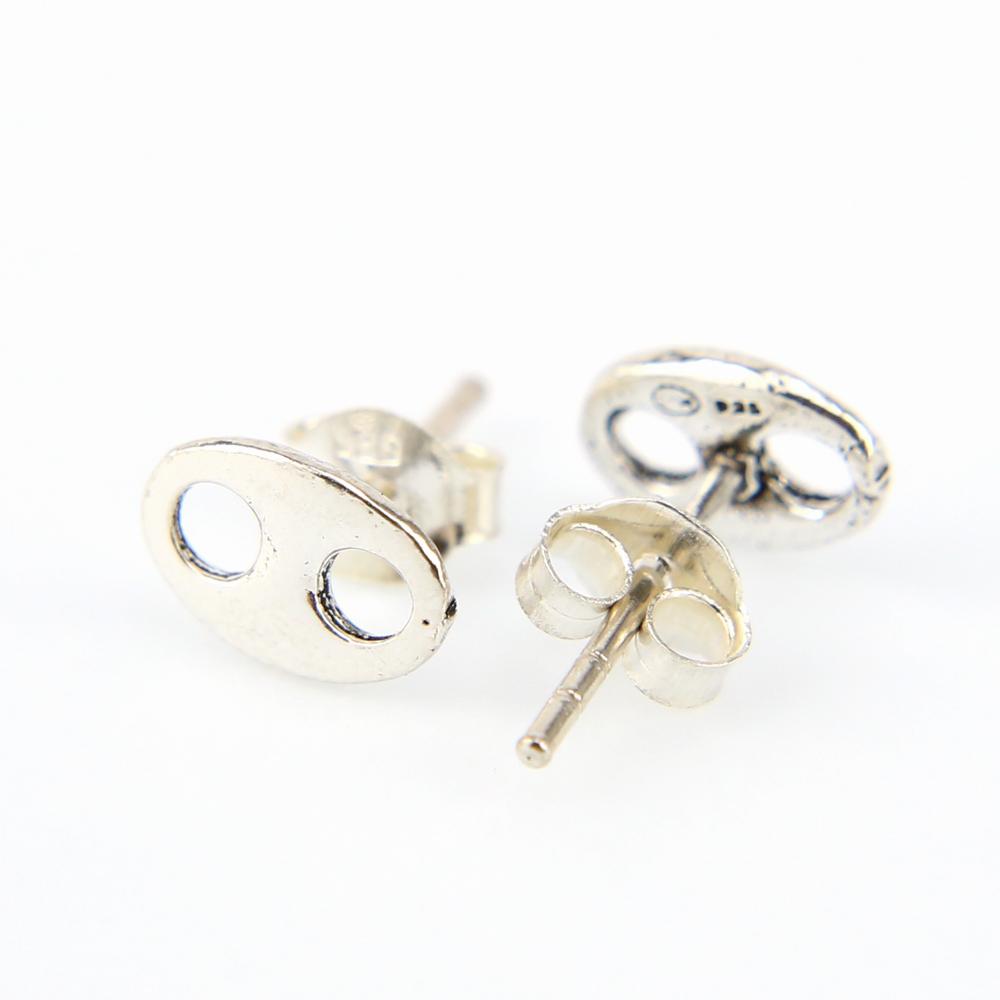 Boucles d/'oreilles grain de café argent BOA3A