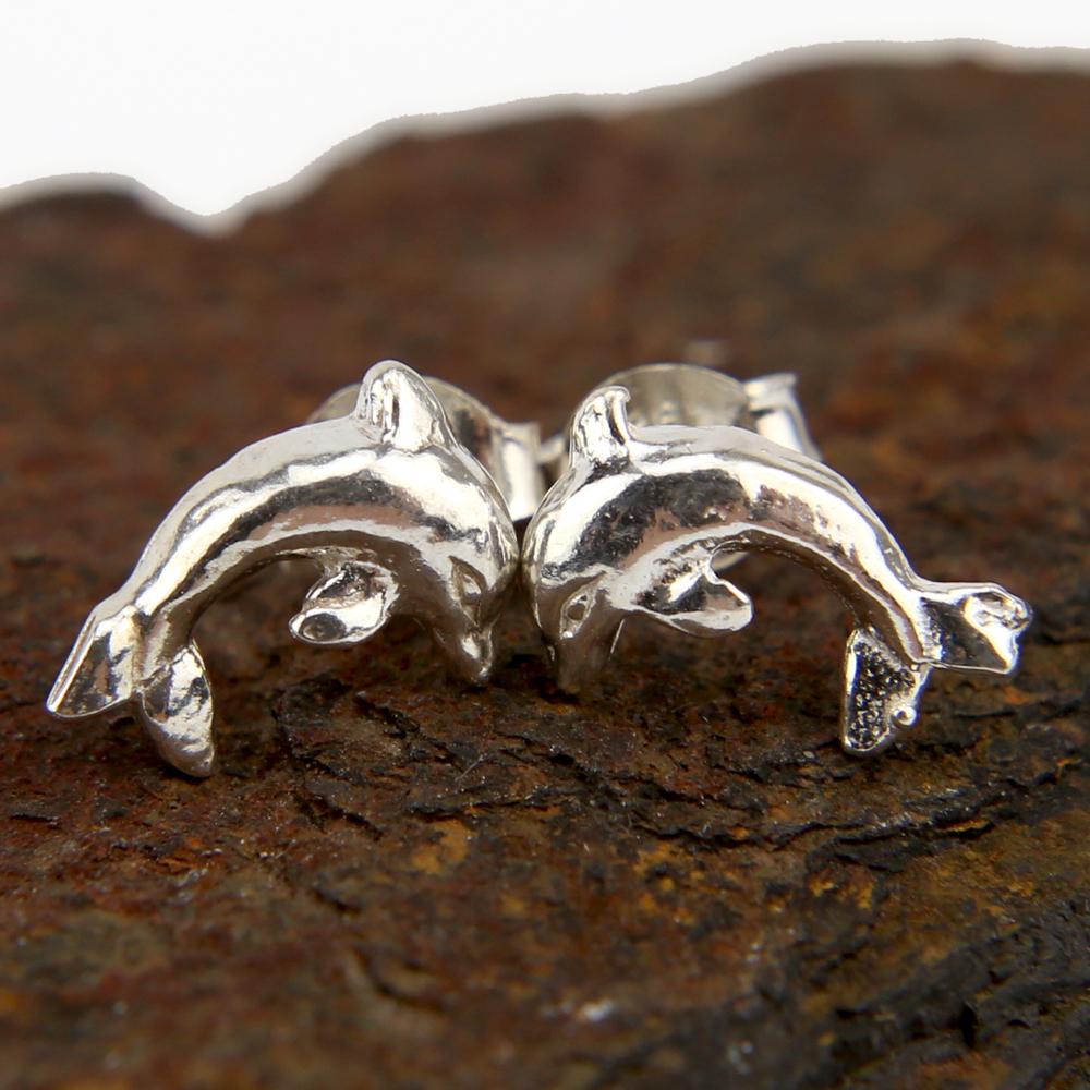 Boucles d\'oreilles bo dauphin argent BOA5A