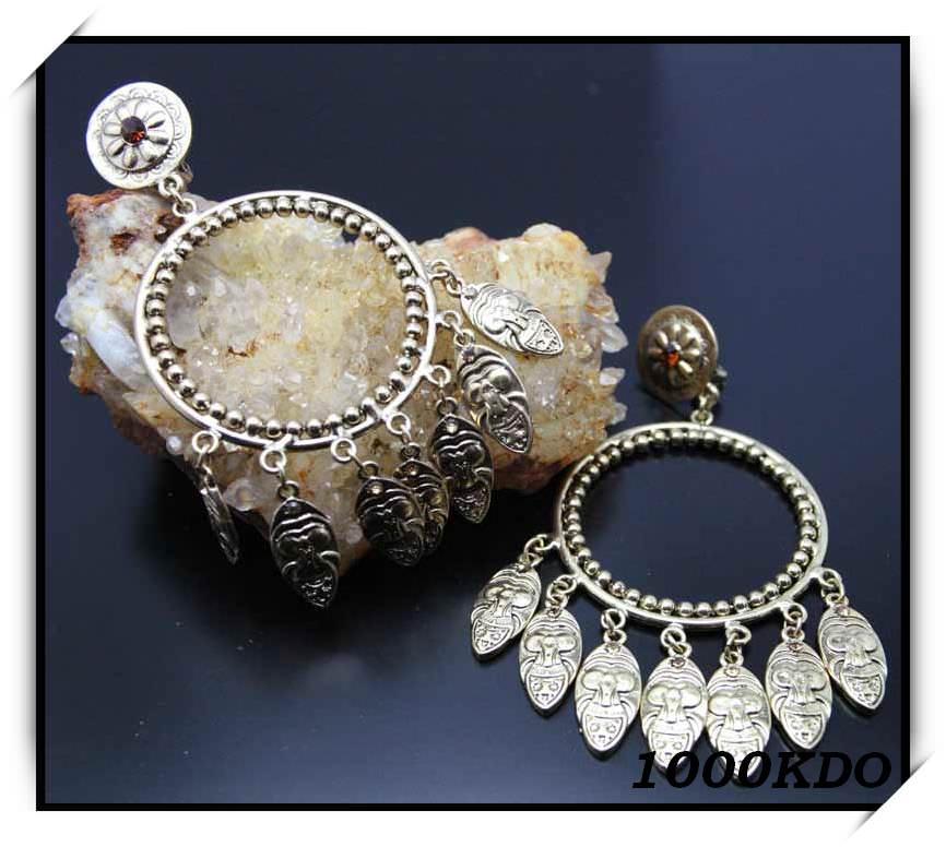 Boucles d\'oreilles bo clip créoles pendentes neuf BOC6