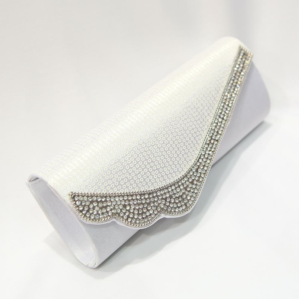 Sac pochette strass soirée mariage SXF68913 Blanc