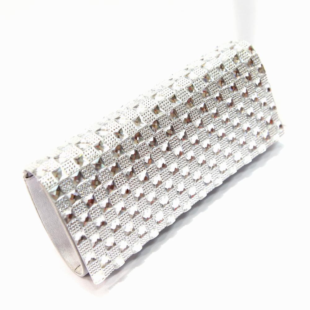Sac pochette strass soirée mariage SXF13152 Blanc