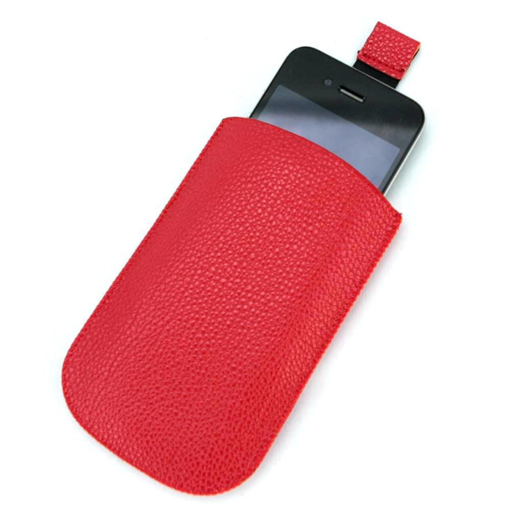Housse pochette étui cuir pour Apple iPhone 3G 3GS 4 4S HP4 Rouge